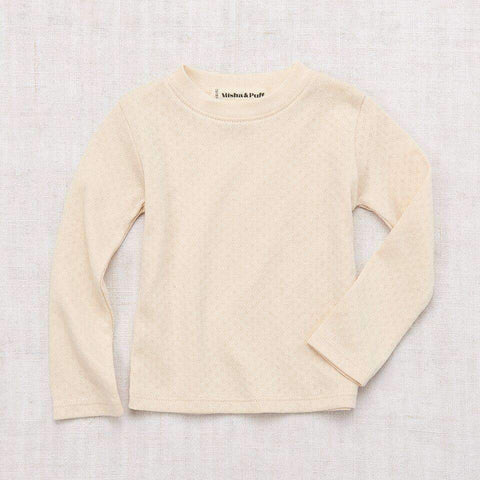 Misha & Puff Pointelle Long Sleeve Tee