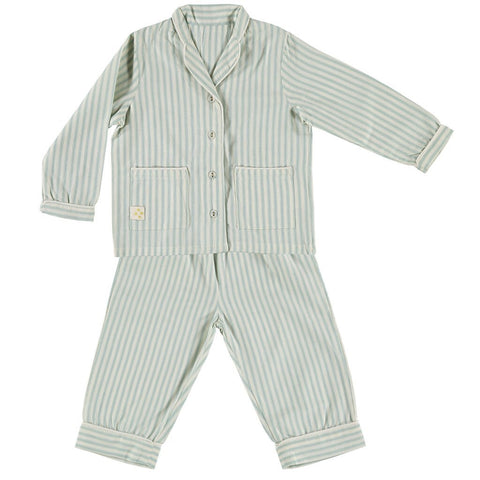 Camomile London Marine Ticking Stripe Pajamas