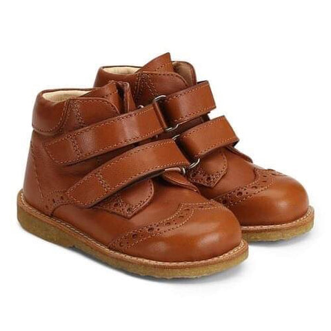 Angulus Wing Tipped Boot With Velcro Straps