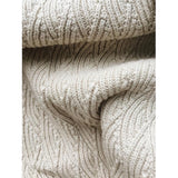 Organic Cotton Pointelle Blanket in Off White