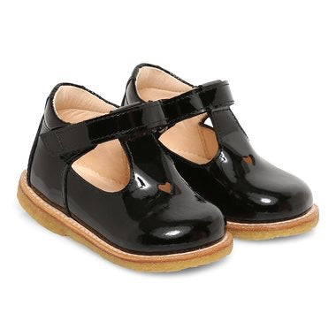 Angulus Patent Velcro Mary Jane with Heart