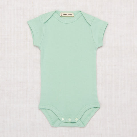 Misha & Puff Ribbed Cotton SS Onesie