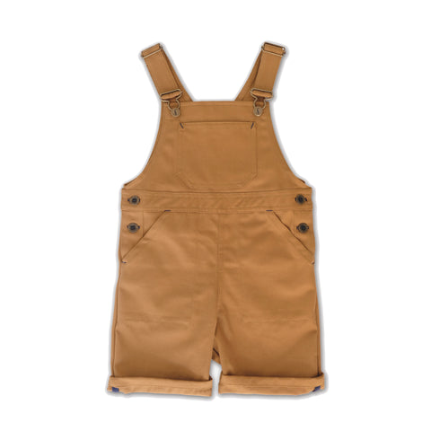 Monty and Co. Porter Short Dungarees Tan