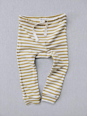 Mabo organic striped drawstring leggings