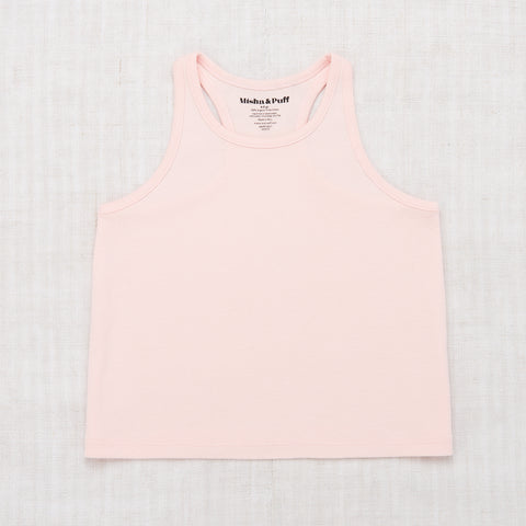Misha and Puff Racer back tank-english rose