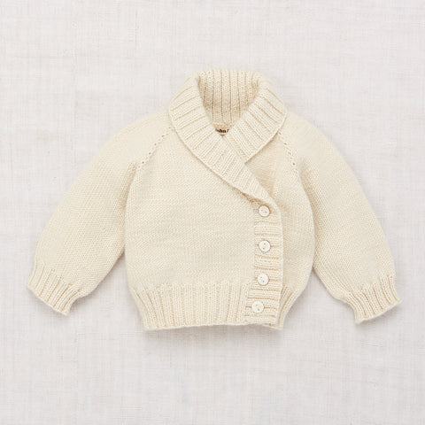 Misha & Puff Layette Salt Water Cardigan in Ecru