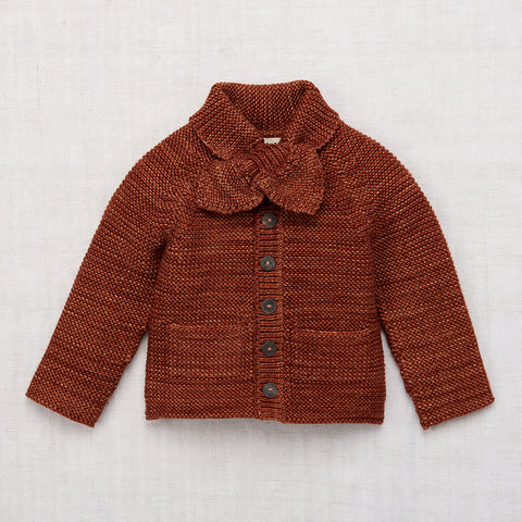 Misha & Puff Scout Cardigan in Terracotta