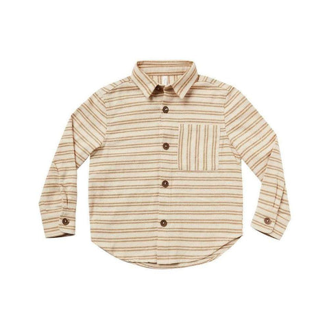 Rylee and Cru Collared shirt-cinnamon