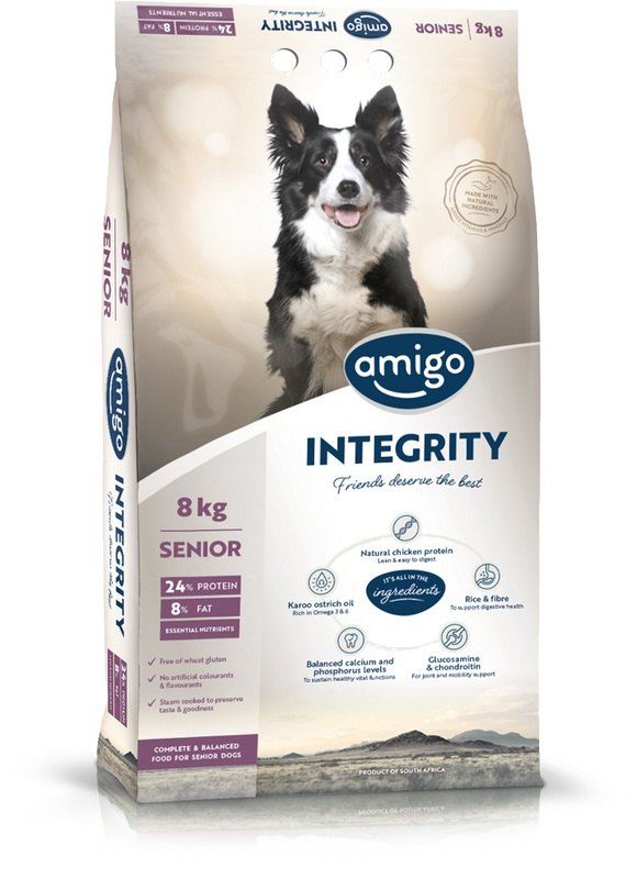 Amigo - INTEGRITY Senior Dog Food 20kg