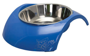 Rogz 2-in-1 Medium 350ml Luna Dog Bowl, Blue