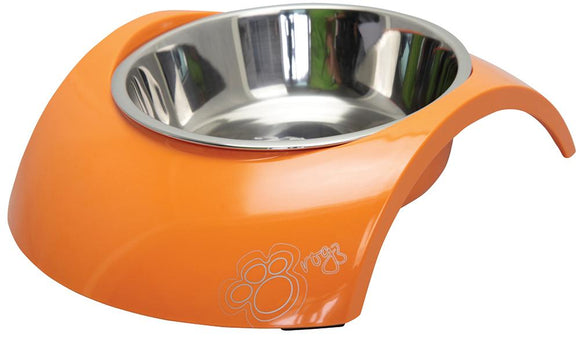 Rogz 2-in-1 Medium 350ml Luna Dog Bowl, Orange