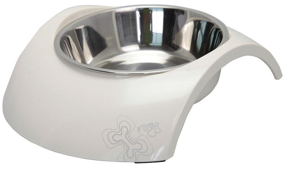 Rogz 2-in-1 Large 700ml Luna Dog Bowl, Ivory