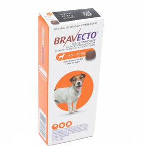Bravecto Chewable tick and flea tablet - 4,5-10Kg