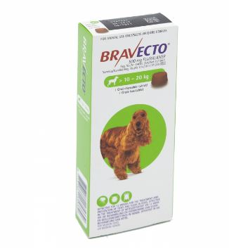 Bravecto Chewable tick and flea tablet - 10 - 20Kg
