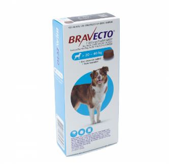 Bravecto Chewable tick and flea tablet - 20 - 40 Kg