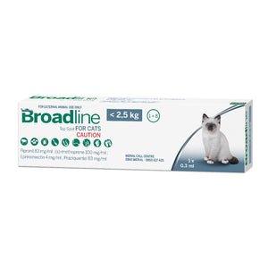 Broadline Mixed Parasite Top Spot for Cats < 2.5kg (Single applicator)