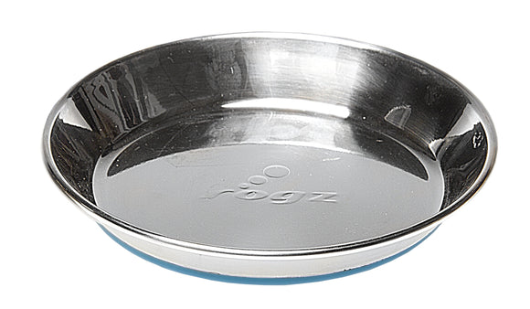 Rogz Catz Bowlz Stainless Steel 200ml Anchovy Cat Bowl, Blue Base