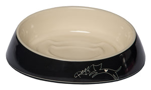 Rogz Catz Bowlz 200ml Fishcake Cat Bowl, Jumping Cat Design