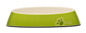 Rogz Catz Bowlz 200ml Fishcake Cat Bowl, Lime Paw Design