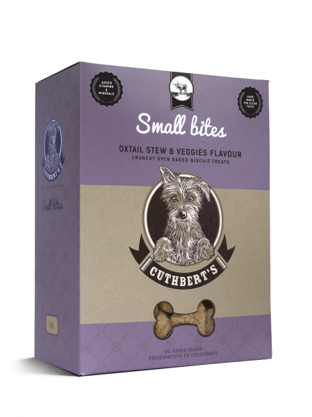 Cuthbert's Dog Biscuits - Oxtail Stew & Veggies Flavour (Small Bites) 1kg