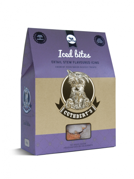 Cuthbert's Dog Biscuits - Oxtail Stew Flavour ( Iced Bites ) 650g