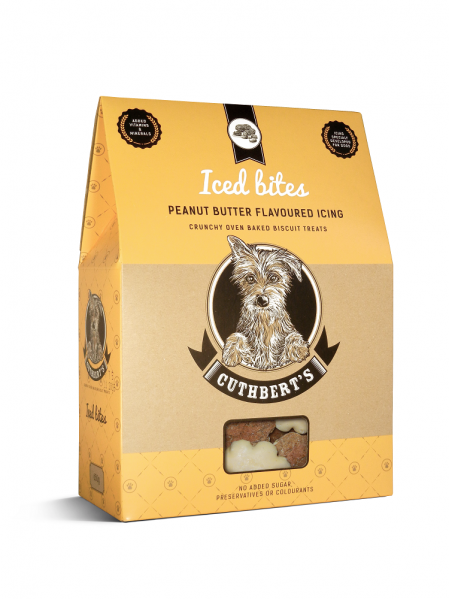Cuthbert's Dog Biscuits - Peanut Butter Flavour ( Iced Bites ) 650g
