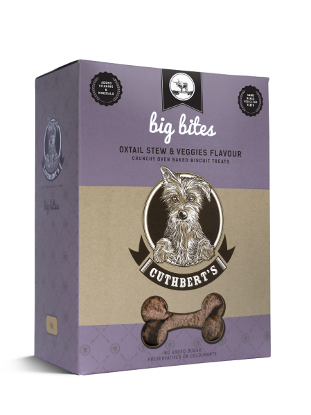 Cuthbert's Dog Biscuits - Oxtail Stew & Veggies Flavour ( Large Bites ) 1kg