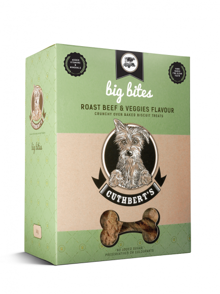 Cuthbert's Dog Biscuits - Roast Beef & Veggies Flavour ( Large Bites ) 1kg