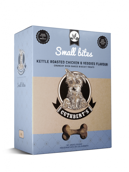 Cuthbert's Dog Biscuits - Kettle Roasted Chicken & Veggies Flavour (Small Bites) 1kg