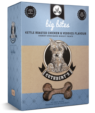 Cuthbert's Dog Biscuits - Kettle Roasted Chicken & Veggies Flavour (Big Bites) 1kg