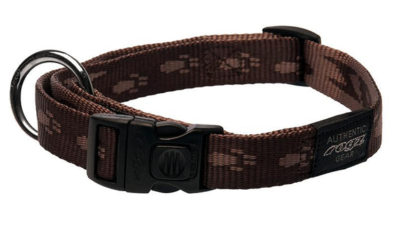 Rogz Alpinist Large 20mm K2 Dog Collar, Chocolate Rogz Design