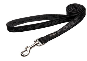 Rogz Alpinist Large 20mm K2 Fixed Dog Lead, Black Rogz Design