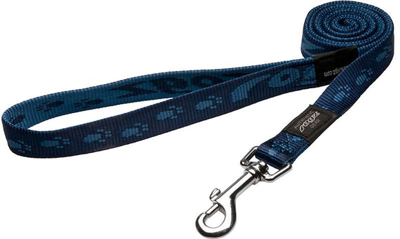Rogz Alpinist Large 20mm K2 Fixed Dog Lead, Blue Rogz Design