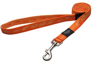Rogz Alpinist Large 20mm K2 Fixed Dog Lead, Orange Rogz Design