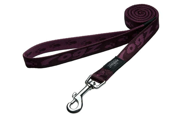 Rogz Alpinist Large 20mm K2 Fixed Dog Lead, Purple Rogz Design