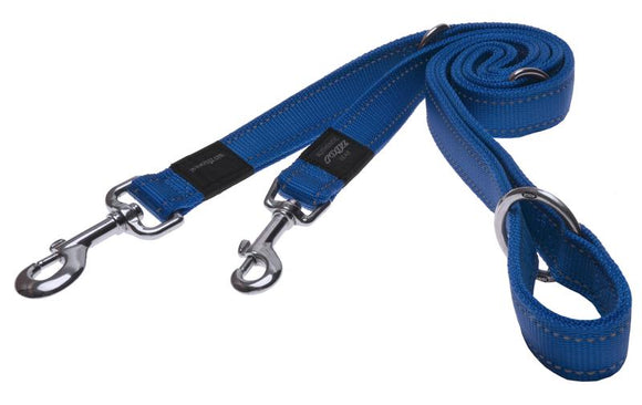 Rogz Utility Extra Large 25mm Lumberjack Multi-Purpose Dog Lead, Blue Reflective