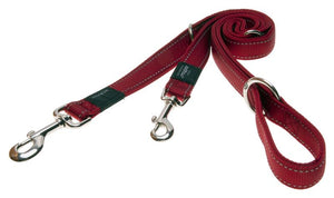 Rogz Utility Extra Large 25mm Lumberjack Multi-Purpose Dog Lead, Red Reflective