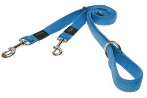 Rogz Utility Extra Large 25mm Lumberjack Multi-Purpose Dog Lead, Turquoise Reflective