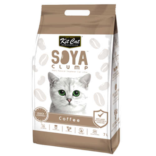 Kit Cat Soya Clump - Cat Litter - Coffee - 3kg