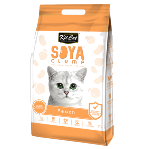 Kit Cat Soya Clump Cat Litter - Peach - 3kg