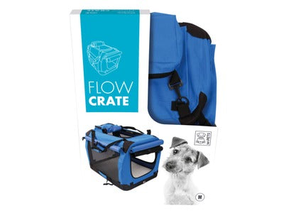 MPets Collapsible Flow Crate for Dogs Blue - Medium