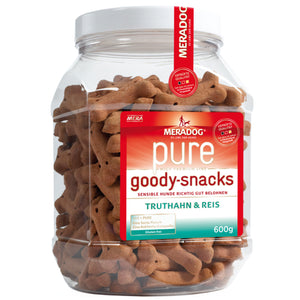 Meradog PURE Goody Snacks – Turkey & Rice Treats 600g