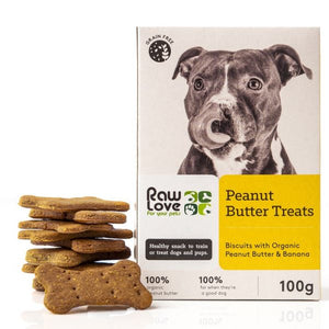 Raw Love Pets Peanut Butter Treats for Dogs 100g