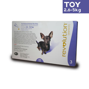 Revolution Spot On Parasite Treatment for Dogs 2.6kg - 5kg (Purple) - Pack of Three