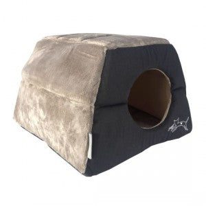 Rogz - Catz Igloo Podz Cat Bed - Black Cat