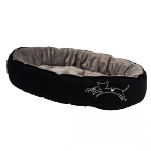 Rogz - Catz Snug Podz Cat Bed - Black Cat Medium
