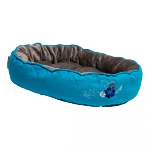 Rogz - Catz Snug Podz Cat Bed - Blue Floral Medium