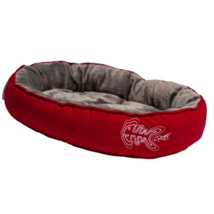 Rogz - Catz Snug Podz Cat Bed - Tango Red Fishbone Small