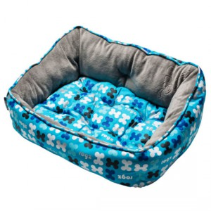 Rogz - Lapz Trendy Podz Lap Dog Beds - Blue Bones - Small