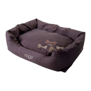 Rogz - Spice Podz Dog Beds - Chocolate Bone Design - Medium